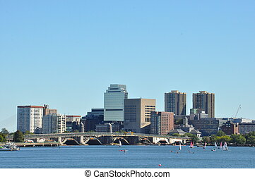 Boston Harbor in Massachusetts, USA