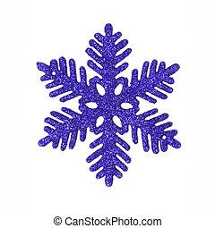 Dark blue glitter snowflake - One dark blue glitter...