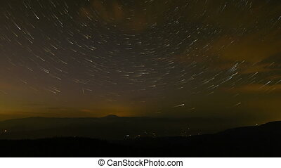 Time Lapse of Star Trails in Oregon