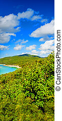 Stunning colors of Whitsundays Archipelago, Australia. Mountains