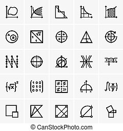 Math icons - Set of Math icons