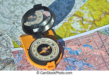 Compass on the maps. - The compass on the map. Open the...