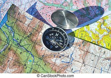 compasso, mapas