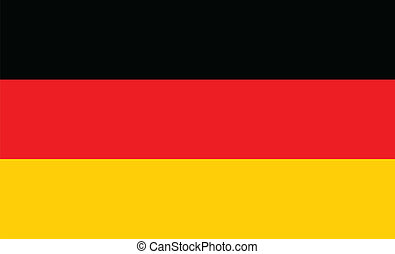 German Flag - The flag of Germany in red black and gold