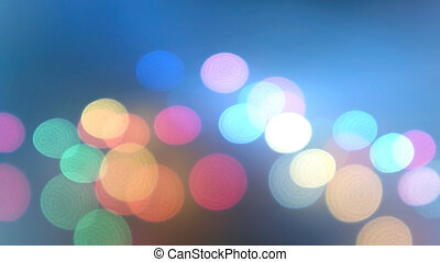 Blue Festive Christmas elegant abstract background with bokeh lights