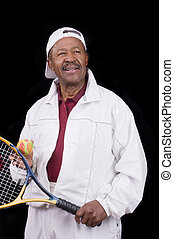 Active senior citizen - Active Black senior citizen ready...