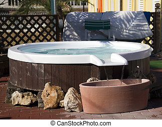 Jacuzzi - An outdoor hot tub jacuzzi