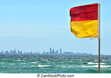 Australian Lifeguards in Gold Coast Queensland Australia -...