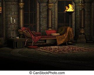 Fantasy Background - 3d render of a fantasy background
