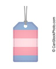 label with a transgender pride flag - Illustration of an...