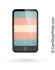 smartphone with a transgender pride flag - Isolated...