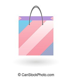 shopping bag with a transgender pride flag - Isolated...
