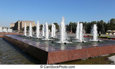 Fountain in the Victory Park,Moscow - Fountain in the...