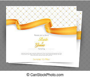 Wedding invitation - Vector illustration of Wedding...