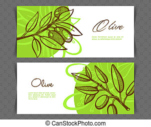 Hand-Drawing Olive - Vector illustration of Hand-Drawing...