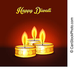 Happy Diwali - Vector illustration of Happy Diwali