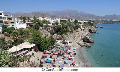 View from Balcon de Europa in Nerja