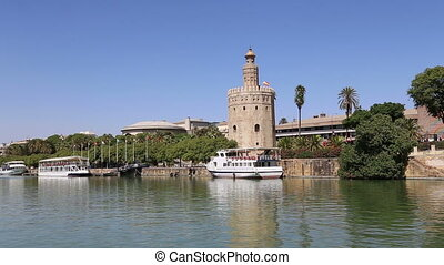 Torre del Oro, Seville, Spain - Torre del Oro or Golden...