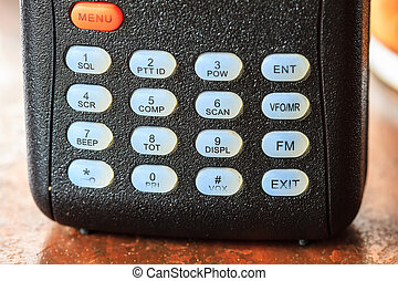 radio communication - close up button of radio communication...