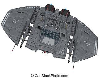 Spaceship - 3d render of a spaceship
