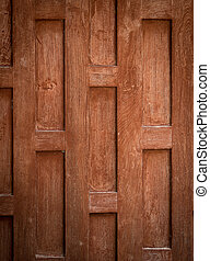 Thai style wooden wall