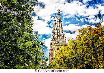Basilica of St Peter and St Paul in Vysehrad - View of the...