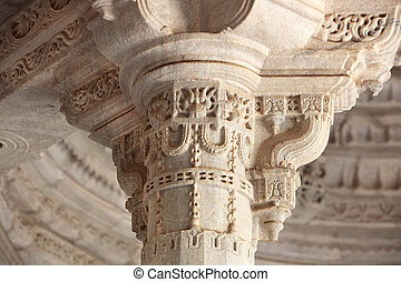 Chapter Ranakpur Temple - a marble chapter of the Ranakpur...