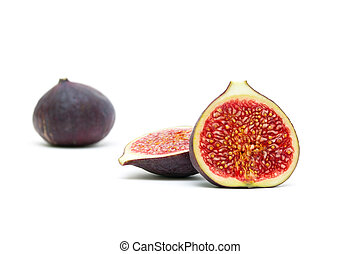 figs closeup isolated on white background