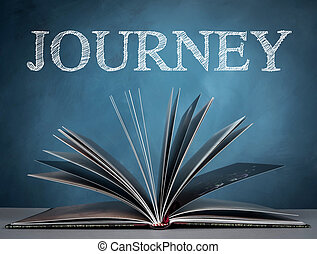 Journey - open a book for journey in world wide and...