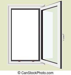 Fenster schließen clipart  EPS Vektor von wand, ledig, tür - Single, hand, gezeichnet ...