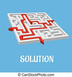 Labyrinth puzzle with two solutions - Labyrinth puzzle or...