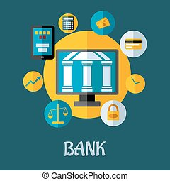 Banking and investment concept - Vector illustration of a...