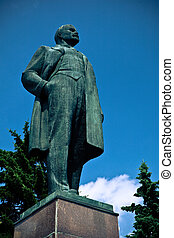 Statue of Lenin - Old bronze statue of Lenin, famous Soviet...