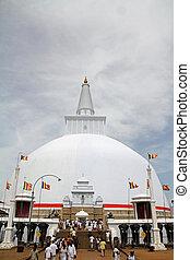 Ruwanweli saya in Anuradhapura, Sri Lanka