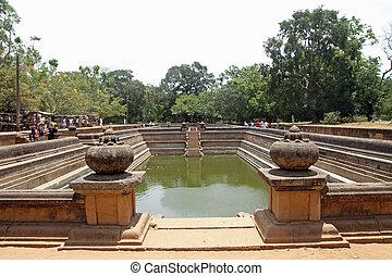 Kuttam Pokuna twin ponds in Anuradhapura, Sri Lanka