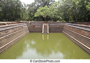 Kuttam Pokuna (twin ponds) in Anuradhapura, Sri Lanka