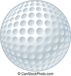 Golf Ball - Vector illustration of a golf ball