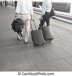 Train Station - Businessmen at the Train Station