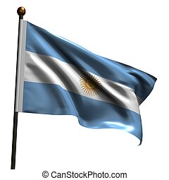 High resolution Argentinean flag - Argentinean flag. High...
