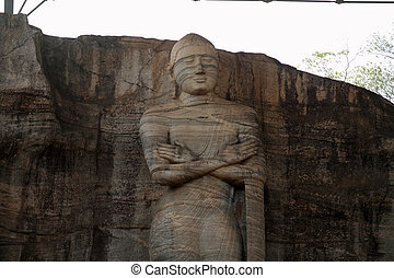 Gal Vihara (Buddha statue) in Polonnaruwa, Sri Lanka
