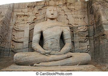 Gal Vihara Buddha statue in Polonnaruwa, Sri Lanka