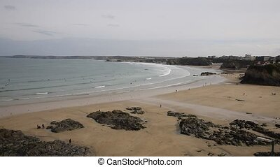 Elevated view Newquay Towan beach - Newquay Towan beach...