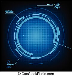 Technology futuristic circuit digital background and space...