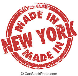 Made in New York Pride in Manufacturing Production Stamp...