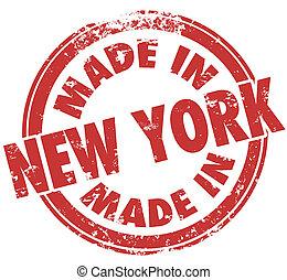 hecho, nuevo, York, Orgullo, fabricación,...