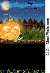 Evil Jack o Lantern - Jack o Lantern with sprouts and leaves...