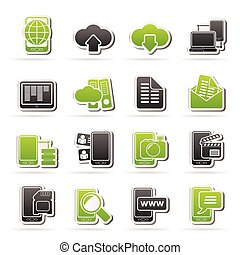 communication and mobile phone icon