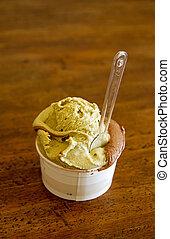 Ice cream - Pistachio and chocolate ice cream