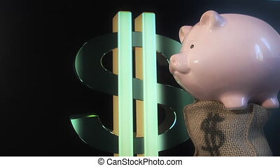 Piggy bank and dollar symbol