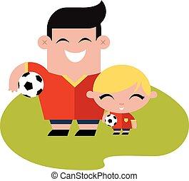FAmily soccer football time